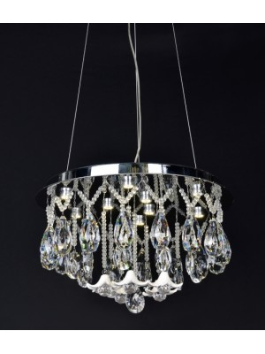 LED Diamond Full Lead Crystal Pendant Light 'Camila'