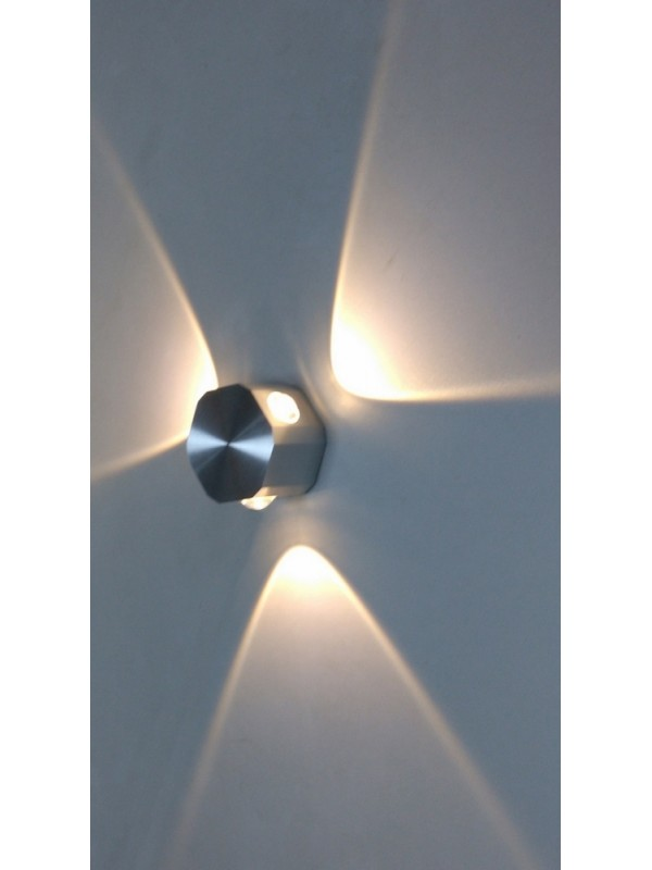 AT COST PRICE - LED Indoor/Outdoor Wall Light 'Daisy' 3 Light Round