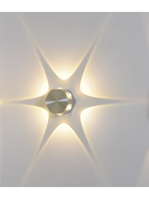 LED Indoor/Outdoor Wall Light 'Debra' Star