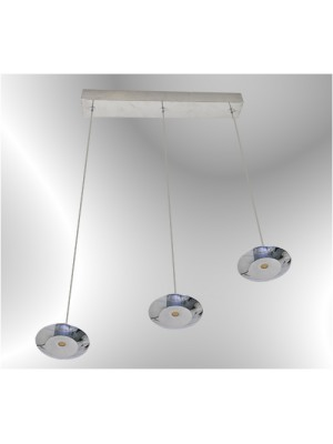 LED Pendant Light Three Head Straight Droplight Flying Saucer 'Alia'