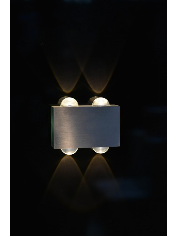 LED Indoor/Outdoor Wall Light 'Delta' Double