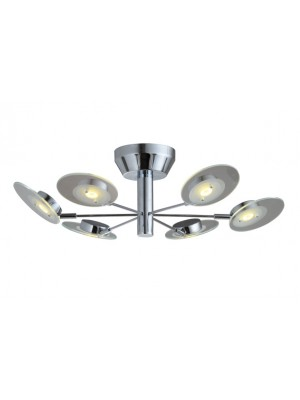 LED Pendant Light Six Head Straight Droplight Flying Saucer 'Alva'