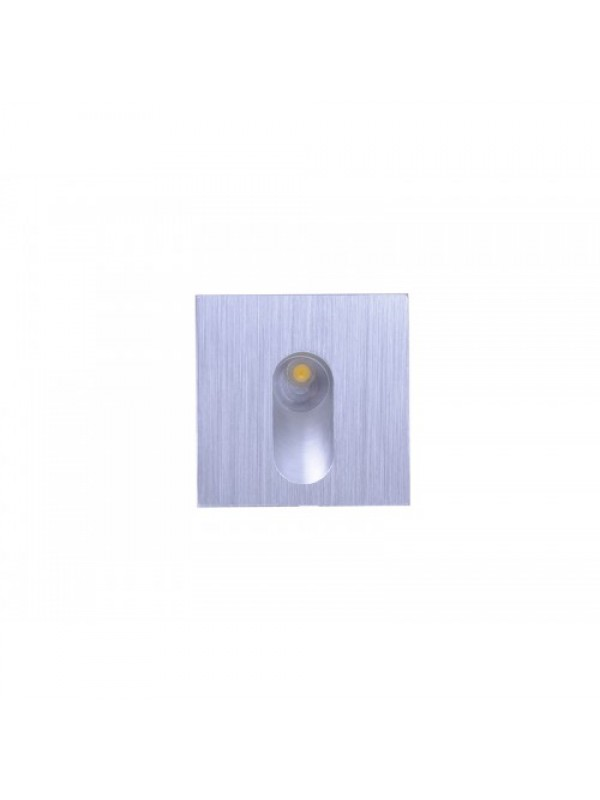 LED Pure Aluminium Stairwell Light - Square Shape 'Deanna' 1w
