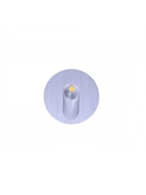 LED Pure Aluminium Stairwell Light - Round Shape 'Davina' 1w