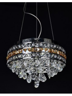 LED Diamond Full Lead Crystal Pendant Light 'Carlene'