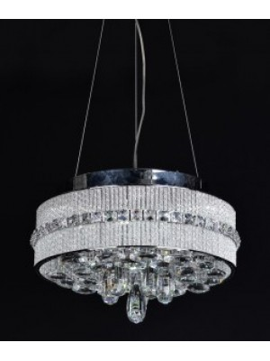 LED Diamond Full Lead Crystal Pendant Light 'Carla'