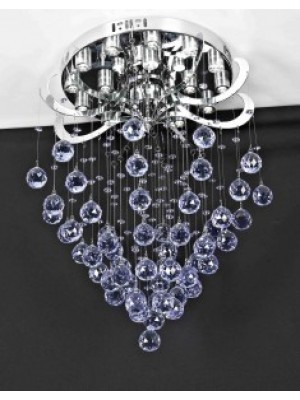 LED Diamond Full Lead Crystal Pendant Light 'Carina' SPINNING PENDANT - With Remote Control