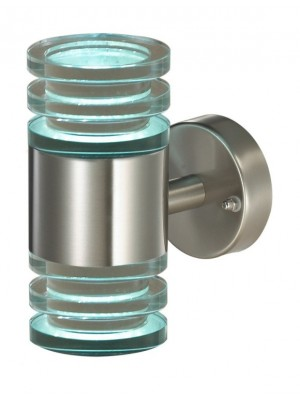 LED Outdoor Wall Light Up and Down 'Dana' with Glass