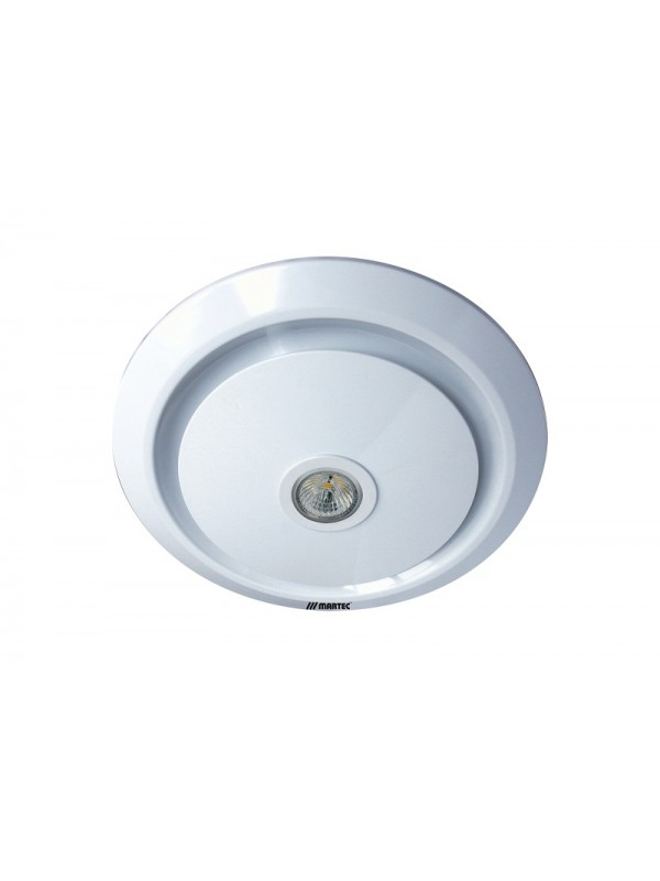 Martec Gyro Light Round 250mm Exhaust Fan & 5w LED Light White 'Osma'