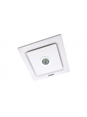 Martec Tetra Light Square 250mm Exhaust Fan & 5w LED Light White 'Oriana'