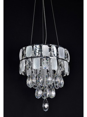 LED Diamond Full Lead Crystal Pendant Light 'Ariel'