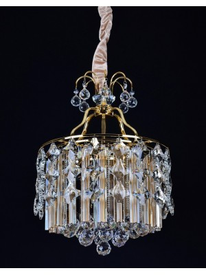 LED Diamond Full Lead Crystal Pendant Light 'Athena'