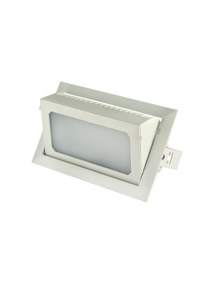 LED Rectangle Shop Fitting Down Light 'Galina' 38w