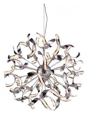 LED Pendant in Chrome 500mm Diameter