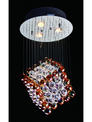 LED Diamond Full Lead Crystal Pendant Light 'Audrey'